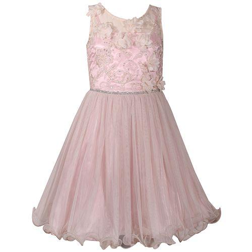 66d10269e00d0 Girls 7-16 Bonnie Jean Sleeveless Embroidered Dress