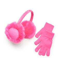 Girls 4-16 SO® Sequin Earmuffs & Gloves Set