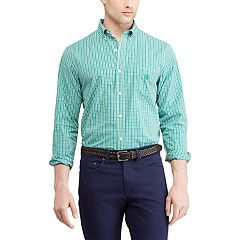 Men's Chaps Slim-Fit Easy-Care Stretch Button-Down Shirt