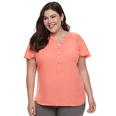 Plus Size Apt. 9® Flutter Georgette Top