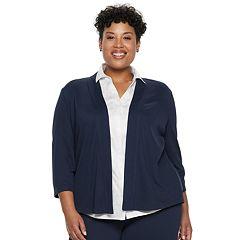 Plus Size Dana Buchman Jacquard Jacket
