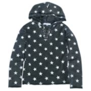 Girls' 7-16 Harper & Elliott Star Lace-Up Hoodie