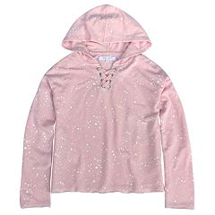 Girls' 7-16 Harper & Elliott Splatter Lace-Up Hoodie