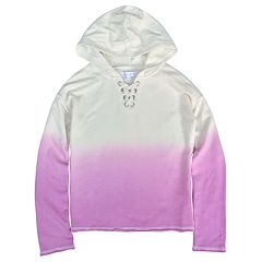 Girls' 7-16 Harper & Elliott Dip Dye Lace-Up Hoodie