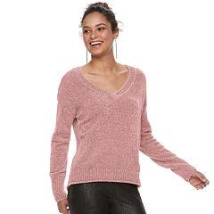 Juniors' Mudd® Chenille Sweater