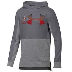 Boys 8-20 Under Armour Wisconsin Badgers Charged Cotton Hoodie