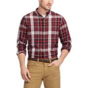 Men's Chaps Regular-Fit Plaid Button-Down Shirt