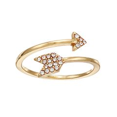 LC Lauren Conrad Simulated Crystal Arrow Bypass Ring
