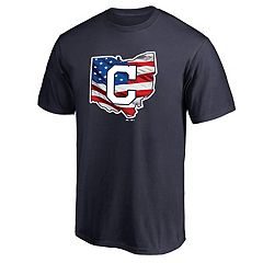 Men's Majestic Cleveland Indians American Flag State Tee