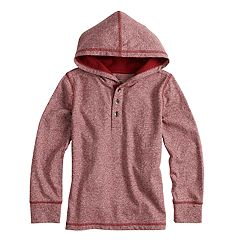 Boys 4-12 SONOMA Goods for Life™ Hooded Henley Top