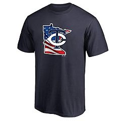 Men's Majestic Minnesota Twins American Flag State Tee
