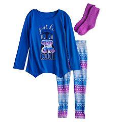 Girls 4-16 SO® Top & Bottoms Pajama Set