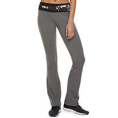 Juniors' SO® Colorblock Waistband Bootcut Yoga Leggings