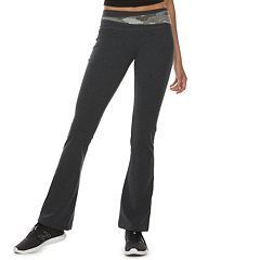 Juniors' SO® Colorblock Waistband Bootcut Yoga Leggings