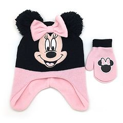 Disney's Minnie Mouse Toddler Girl Hat & Mittens Set