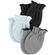 Baby Boy Carter's 3-Pack Solid & Print Mitts