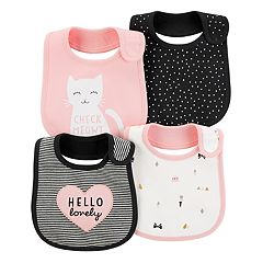 Baby Girl Carter's 4-Pack Print & Graphic Bibs