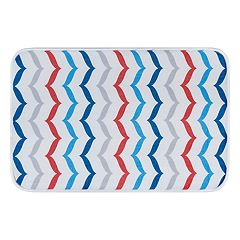 KHL Rugs Fishtails Transitional Chevron Printed Comfort Mat