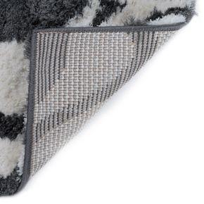 KHL Rugs Xeveria Contempoary Geometric Microfiber Shag Rug