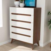 Baxton Studio Calypso Mid-Century 5-Drawer Dresser