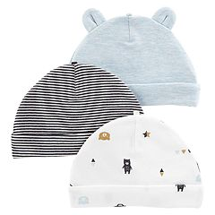 Baby Boy Carter's 3-Pack Print & Solid Hats