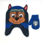 Toddler Boy Paw Patrol Chase Hat & Mittens Set