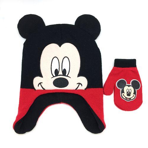 e3d6b579889 Disney s Mickey Mouse Toddler Boy Hat   Mittens Set