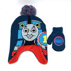 Toddler Boy Thomas the Train Hat & Mittens Set