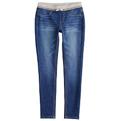 Girls 7-16 & Plus Size SO® Ribbed Waist Jeggings
