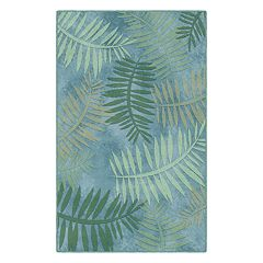 Brumlow Mills Tropical Palm Leaf Printed Rug