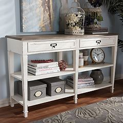 Baxton Studio Dauphine Distressed Console Table