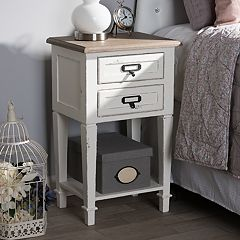 Baxton Studio Dauphine Distressed Nightstand