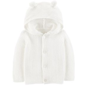 Baby Carter's Hooded Textured Cardigan