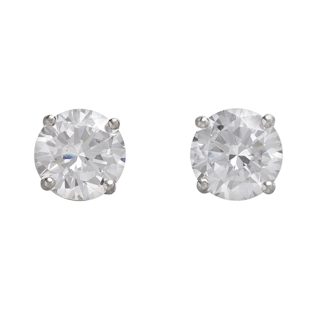 DiamonLuxe Sterling Silver 5-ct. T.W. Simulated Diamonds Stud Earrings