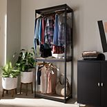 Baxton Studio Gavin 2-Shelf Garment Rack