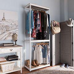 Baxton Studio Gavin 2-Shelf Garment Rack