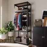Baxton Studio Gavin 3-Shelf Garment Rack