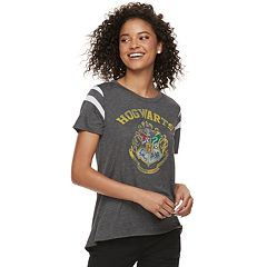 Juniors' Harry Potter Hogwarts Crest Varsity Tee