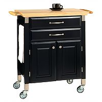 Dolly Madison Prep & Serve Kitchen Cart - Natural Wood Top