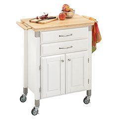 Dolly Madison Prep & Serve Kitchen Cart - Natural Wood Top