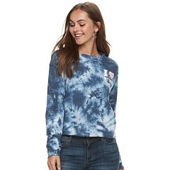 Juniors' 'I Love My Dog' Tie-Dye French Terry Top