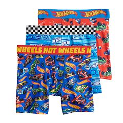 Boys 4-8 Hot Wheels 3-Pack Boxer Briefs