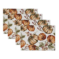 Celebrate Fall Together Pumpkin Placemat 4-pack