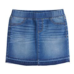 Girls 7-16 Rewash Pull-On Denim Skirt