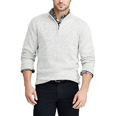 f6a5edbcbb Men s Chaps Classic-Fit Quarter-Zip Mockneck Sweater