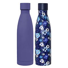 Wellness Double-Wall Stainless Steel Vacuum Water Bottle 2-pack