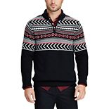 Men's Chaps Classic-Fit Fairisle Mockneck Sweater