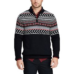 2826731c9b Men s Chaps Classic-Fit Fairisle Mockneck Sweater