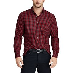 Men's Chaps Classic-Fit Patterned Button-Down Shirt