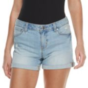 Women's Jennifer Lopez MidRise Cuffed Twill Shorts